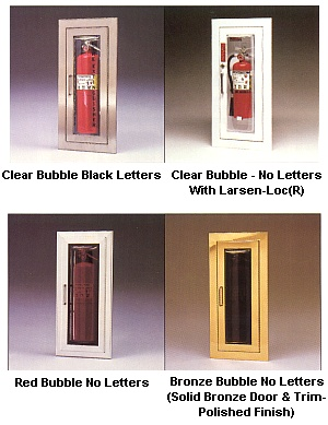 larsen industries fire extinguisher cabinets cameo series