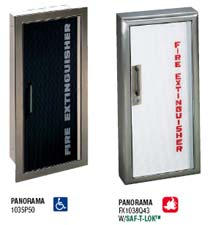 JL Industries Panorama Series Fire Extinguisher Cabinets - Jl fire extinguisher cabinets