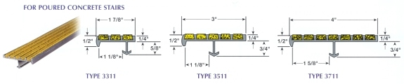 safety nosings for poured concrete stairs