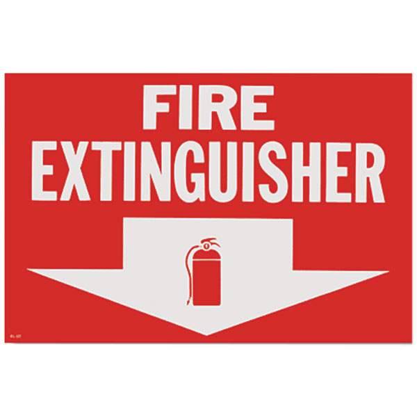 Self-Adhesive Vinyl Fire Extinguisher Sign BL107