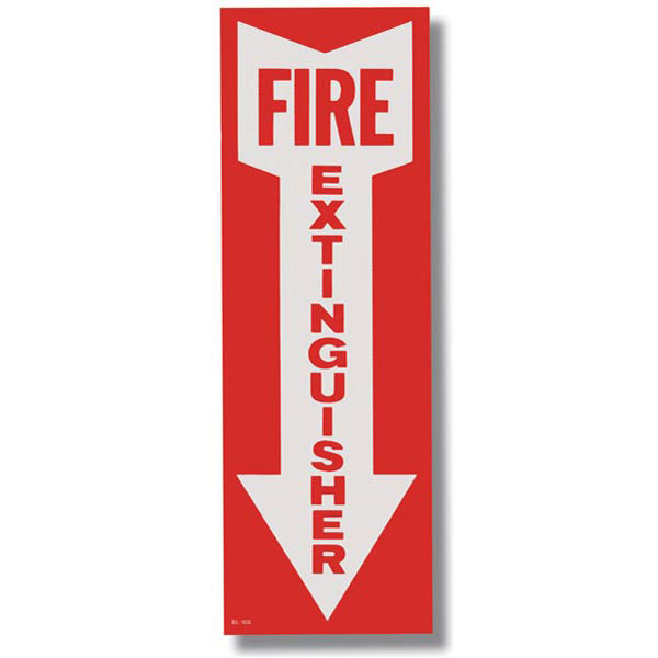 Self-Adhesive Vinyl Fire Extinguisher Sign BL108