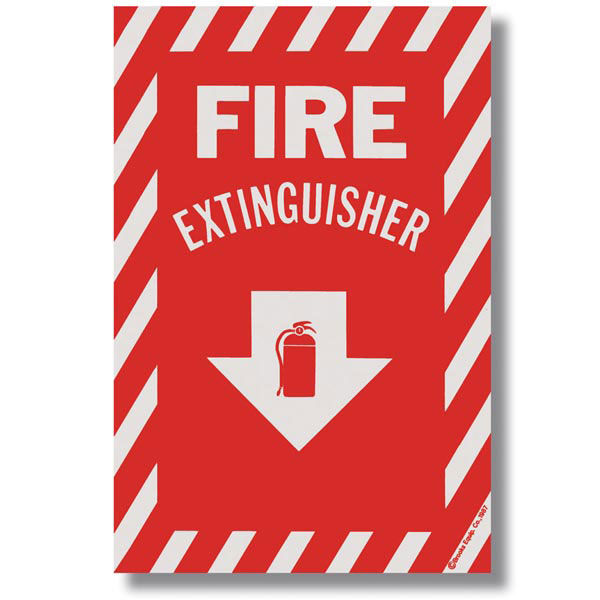 Self-Adhesive Vinyl Fire Extinguisher Sign bl114