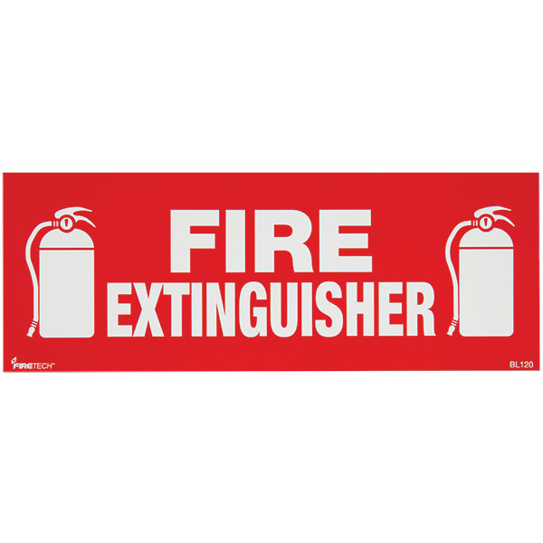 Self-Adhesive Vinyl Fire Extinguisher Sign BL120