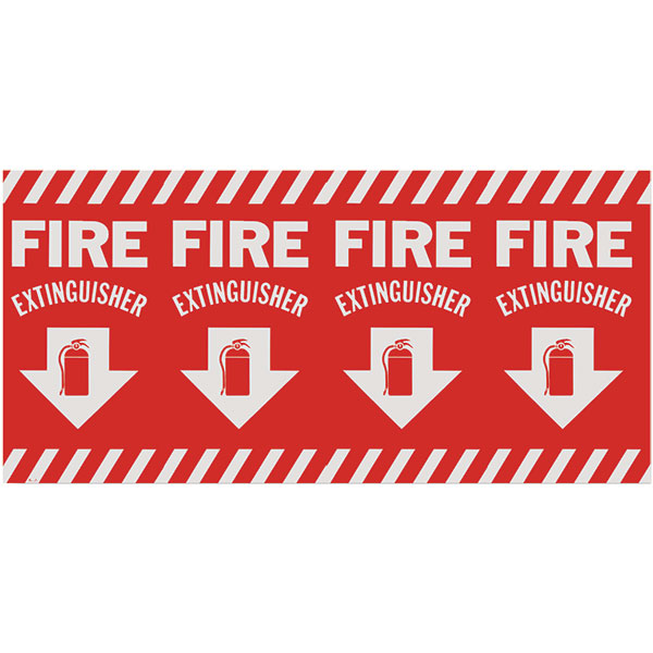 Self-Adhesive Vinyl Fire Extinguisher Sign BL127