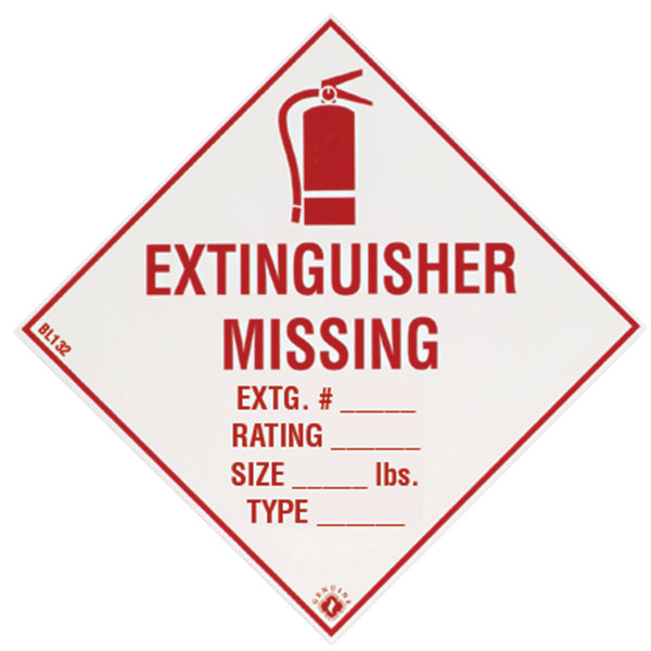 Self-Adhesive Vinyl Fire Extinguisher Sign BL132