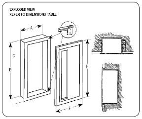 exploded view of embassy cabinet