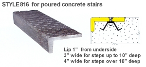 ... Style 816 For Poured Concrete Stairs